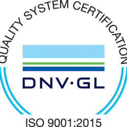 Quality System Certification DNV-GL ISO 9001:2015